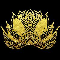 Blume des Lebens Lotos Gold Ornamente Geschenk