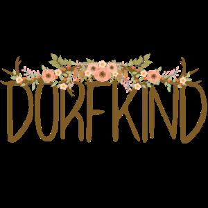 Dorfkind, Geweih, floral - Heimat T-Shirt
