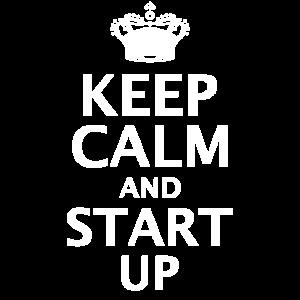 Keep Calm And Start Up | Startup Gründer Krone