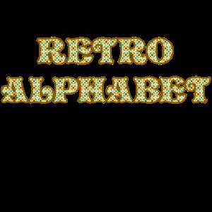 Retro Alphabet für Licht
