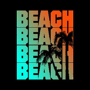Beach - Palmen - Schrift
