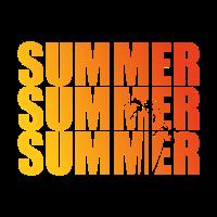 Summer Sumer Palmen ausschnitt farbe