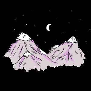 Handgezeichnete Berge - Schwitzerland, Schweiz