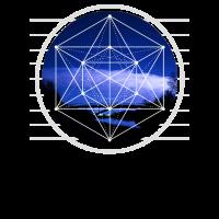 Metatron Hexagon Cube Grafikdesign