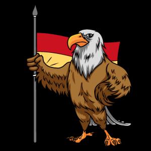 Adler mit einer Deutschland Fahne