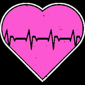 Krankenschwester Herz Liebe Herzschlag EKG Puls