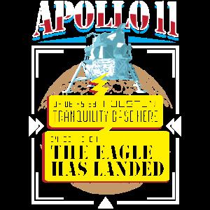 Mondlandungstruhe Basis Apollo 11 Mission