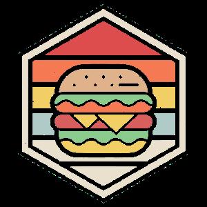 Retro Abzeichen Burger