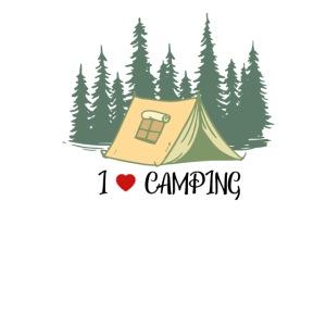 I love Camping Ich liebe Campieren Wandern