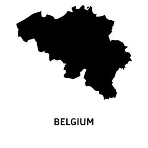 Europa Symbol Land Belgien Silhouette Staat