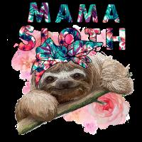 Mama Sloth Floral