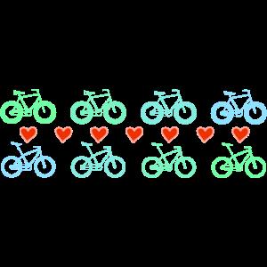 geliebte Fahrräder, Herzen, MTB