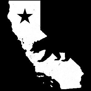Kalifornien USA Umriss Karte Fahne Flagge