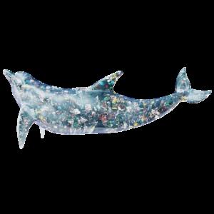 Delfin mit Abfall