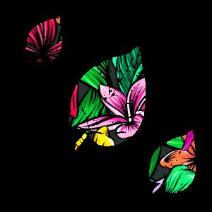 Blumen Muster Blaetter