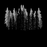 Mystischer gruseliger Wald