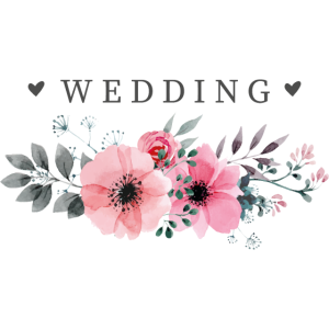 Hochzeit Blumen Geschenk Just Married Blüte Natur