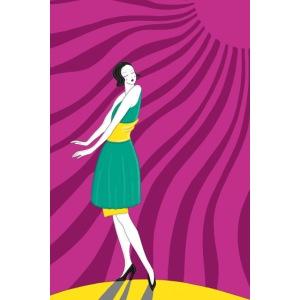 Tanzende Frau in der Sonne - Jugendstil Poster