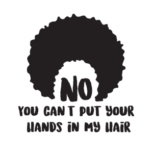 Afro Haar lustiger Text