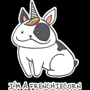 Französische Bulldogge Frenchiecorn Geschenk 0581
