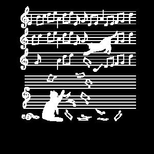 Katzen Musik Noten Spielzeug Instrument Geschenk