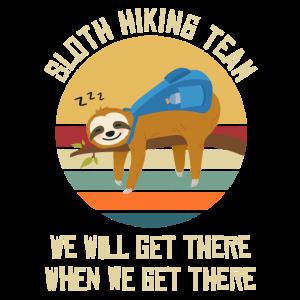 Sloth Hiking Team Bergsteigen Wandern Walking