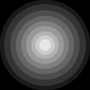 Kreis Farbtöne Schwarz Grau