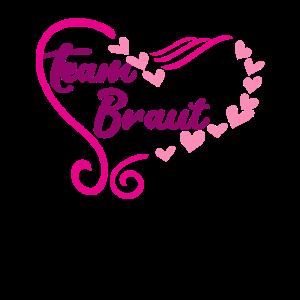 Team Braut Herz Heirat Geschenk Herzen