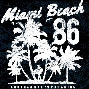 Miami Beach Urlaub Sommer Surfer Palmen