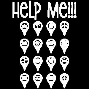 Reise-Ikonen-Reiseführer helfen mir T-Shirt