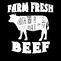 Bauernhof-frischer Rindfleisch-Schnitt-Landwirt