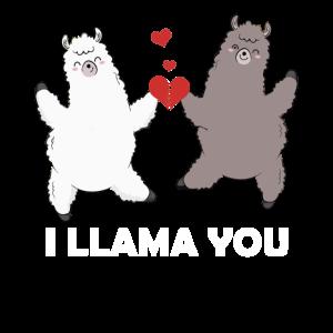 Ich lama Sie lustiger Valentinstag Shirt Lama