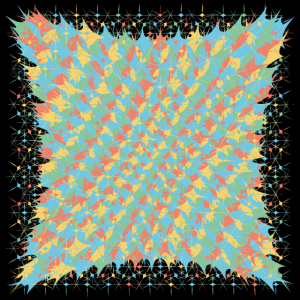 Farbkleckse Splash Muster Poster