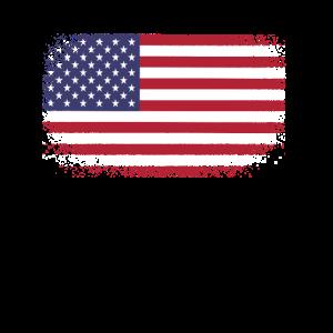 USA Grunge amerikanische Flagge lustig Geschenk