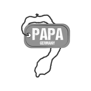 Papa Dog Tag Design fuer OOTD