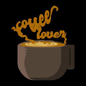 Kaffeeliebhaber der suechtig machend aussieht we