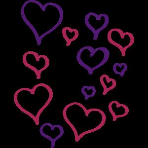Herzchenrausch Liebe Vektor Rosa Geschenk Valentin