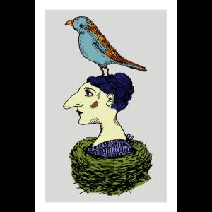 Dame Vogel Poster