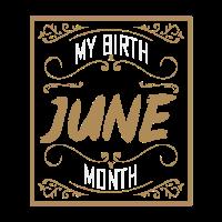 Mein Geburtsmonat ist Juni