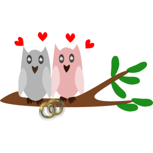 Eulen Brautpaar