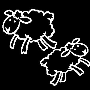 2x Schaf weiss