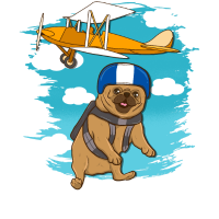 Lustiger Skidiving Pug Dog Skydive Lover Gift Design