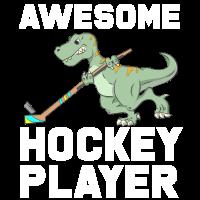 Grandioser T-Rex Hockey Spieler Geschenk