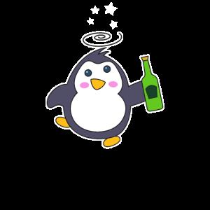 Pinguin Party Bier Geburtstag Geschenk Shirt