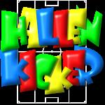 Hallenkicker im Fußballfeld - Balloon-Style