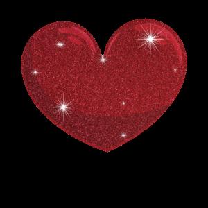 Rotes Funkeln-Effekt-Herz Netter Valentinsgruß-Tag