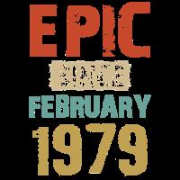 Seit Februar 1979 40. Geburtstagsgeschenk Vintage