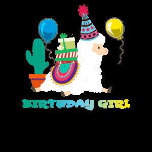 Cooles nettes Alpaka-Lamakaktus-Mädchen-Geburtstag