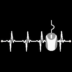 Cooles EKG-Design mit einer Computermaus