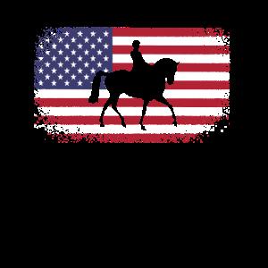 Dressurpferd Dressurreiter Geschenk Amerika USA